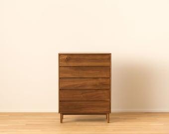 Hayward Tallboy Dresser in Solid Walnut