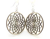 Dreamcatcher  - Earrings laser Cut from Sustainable Wood Source