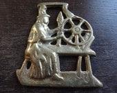 Vintage Wales Spinner Welsh Horse Brass tack decor lucky charm good luck gift souvenir medallion circa 1960's / English Shop