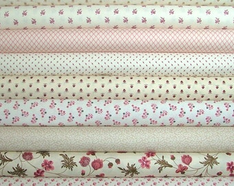 Cream Bundle of 9 of by Margo Krager and The Rocky Mountain Quilt Museum for Washington Street Studio of P & B Textiles and Andover