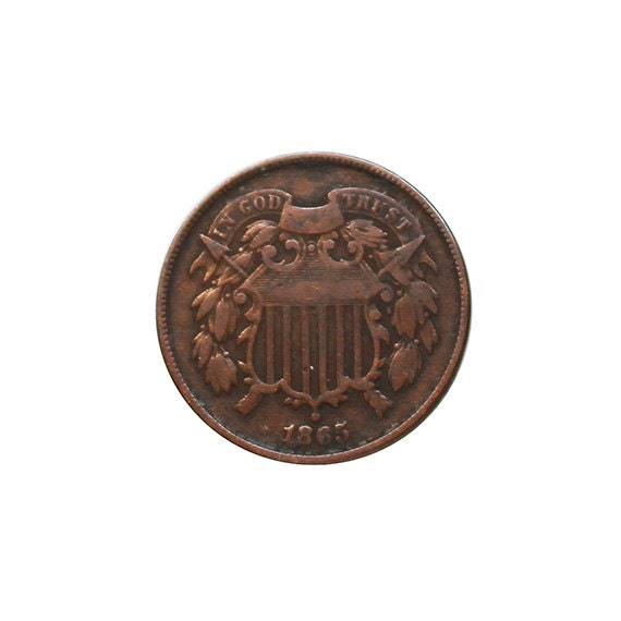 1865 U.S. Two Cent Piece