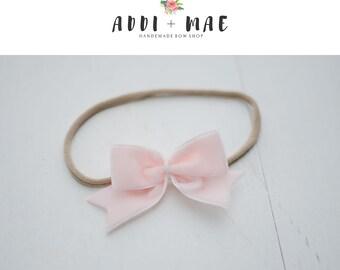Light Pink Dainty Bow Headband