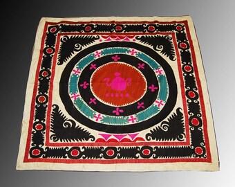 uzbek silk hand embroidered suzani samarkand     home wall decor    embroidered