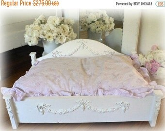 ON SALE Shabby wooden Pet Bed Handcrafted Chic For Small Dog Or Cat