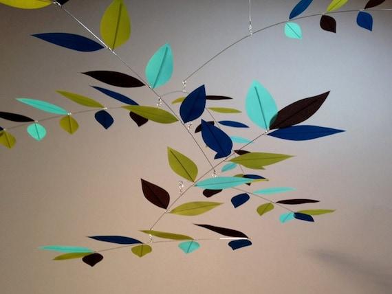 Green Blue Tree Leaves Bold Reflection Modern Mobile