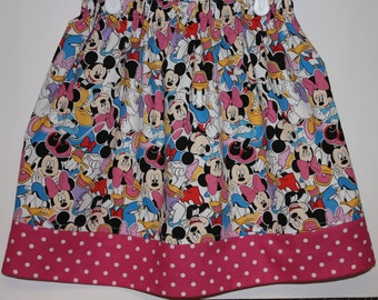 Minnie and Mickey Skirt  Size 2 - 8