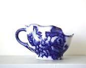 CLOSING DOWN SALE - 50% Off Vintage Shaving Mug in Flow Blue Design by Blakeney of Staffordshire England