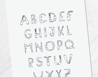A4 Bunny Rabbit Alphabet