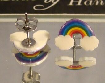 Rainbow Stud Earrings - Surgical steel