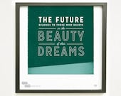 Graphic Design Typography Giclee Prints - Eleanor Roosevelt Quote - He Said She Said series