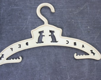 Vintage Plastic Baby Hanger with Scotty Dog and ABC