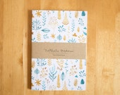 Botanical patterned journal, patterned notebook, diary, handmade, stationery, carnet