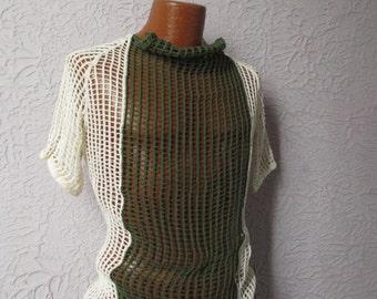 Vintage Men's Military Cotton Fishnet Shirt Mesh med/large
