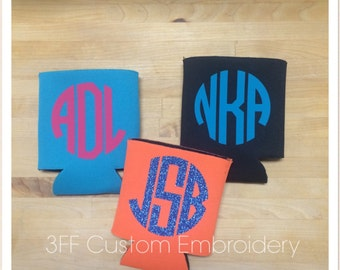 Personalized Monogrammed Coozie