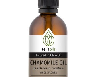 Chamomile infused Facial oil for Acne, eczema, rashes, psoriasis 1.7oz / 50ml