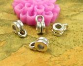 100 pcs Silver Bail Beads 4x3mm CH2714