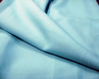 DeStash - Vintage Double Knit Polyester Fabric 2 Yards - Light Blue Turquoise