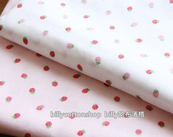 w907_10 -Japanese Fabric - Strawberry fabrics  - double gauze fabric - half yard ( 45 X 110 cm )