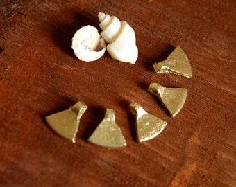brass beads, brass pendants, tribal beads, brass charms, gold charms, tribal pendants, triangle, coin, trade beads, from india, diy jewelry