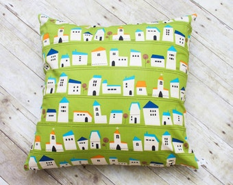 """Green Homes Decorative Cover with Invisible Zipper - 20""""x20"""""""