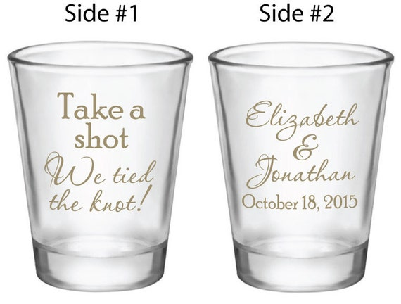 120 wedding favors personalized shot glasses custom new take a shot we