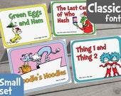 Dr. Seuss Food Labels - Small Set of 16 - for Dr Seuss Party, Dr Seuss Baby Shower, Dr Seuss Birthday, Dr Seuss Printable, Dr Seuss Menu