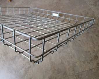 Vintage Metal Square Serving Basket