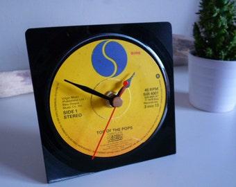 Rezillos record Desk Clock 1970s  Punk Music Vintage Vinyl Record Clock 7 inch single 45 rpm Unique gift for music lovers