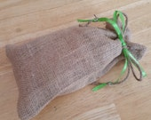 BURLAP Gift Bag WITH 4 Bars- by Happy Goat