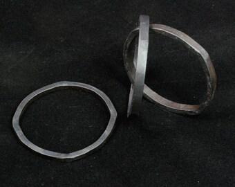 Iron bangle bracelet trio -- i11719
