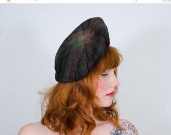 25% OFF SALE / 1940s vintage hat / beret / Full Spectrum
