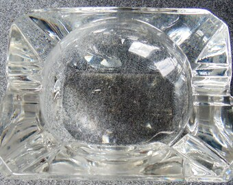Cut Crystal Ashtray Kristalunie Maastricht Holland In Box PRISTINE
