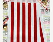 "XOXO SALE 100 Red and White Stripe Personalized Favor Bags, Candy Bags,  ""It's a Sweet Celebration - Meghan Janai Allen - Class of 2015"", Gr"