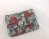 Small Card Holder with Three Pockets  Made From Recycled Necktie