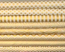 Camelot Fabrics. Heavy Metal. Stars, Dots, Stripes, Cheetah, Zebra, Chevron, Triangles, and Geo in Gold - Choose Cut and Print