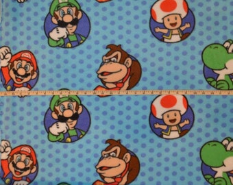 Springs Creative. Super Mario character Bubbles - FLEECE BTY - Choose your cut