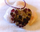Garnet Valentine Heart Necklace Orgonite -Love-Passion-Emotional Balance-Strength-Success-Personal Power-Joy -Heart Chakra