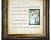 Wedding Vows Framed Wall Art with Your Vows Song lyrics Verse First Dance, First Anniversary, 1st Anniversary, Anniversary Gift , 16 X 16