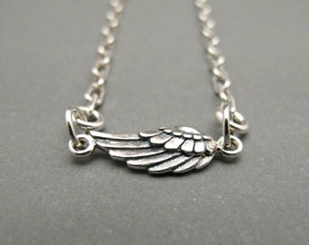 Womens Anklet - Womens Ankle Bracelet - Angel Wing Jewelry - Angel Wing Bracelet - Wing Anklet - Sterling Silver - Minimalist Jewelry - Gift