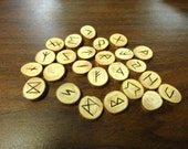 Cypress rune set - Elder Futhark - FREE DOMESTIC SHIPPING - medium