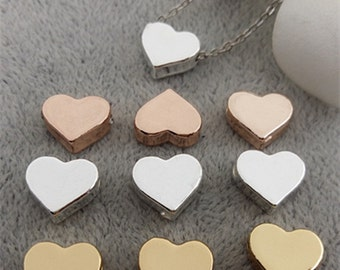 Middle of the year Clearance-heart beads- go in between the letters fit through chains-90 pcs-F1059 F1082 F1085