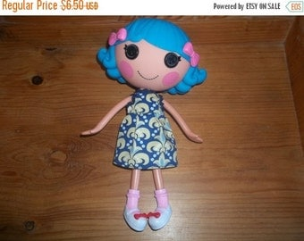 Lalaloopsy Doll Dress handmade yellow and blue