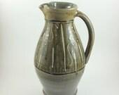 Handmade Stoneware Pottery Blue Green Pitcher (YCP632)