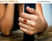 WINTER SALE - red onyx ring,gold ring,14k solid gold ring,gold filled ring,everyday ring,red ring,orange ring,prong ring