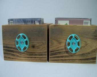 Rustic Wood Drawers, Northwest Style Home Decor, CD Storage Drawers, Home Decor Display Box Set