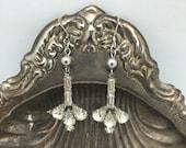 Vintage Rhinestone Earrings Statement Earrings Vintage Bride Earrings