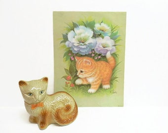 Pastel Kitten Print by Chin