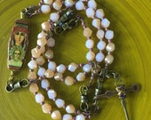 Handmde Catholic Rosary, 5-Decade, Mary the Undoer of Knots, Reversible Icon Image Center