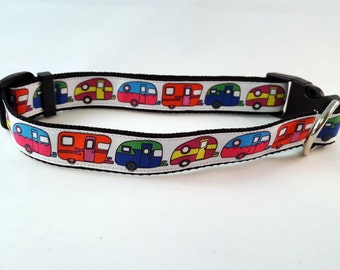 Dog Collar - Adjustable - Colorful Campers - Scamp - Trailer