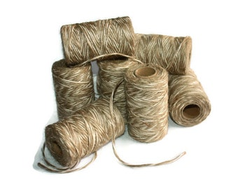 SALE 2 mm Twisted Cord - Natural Jute+Cotton = 16 Spools = 1440 Yards = 1280 Meters - Christmas Decorations - Burlap Banner